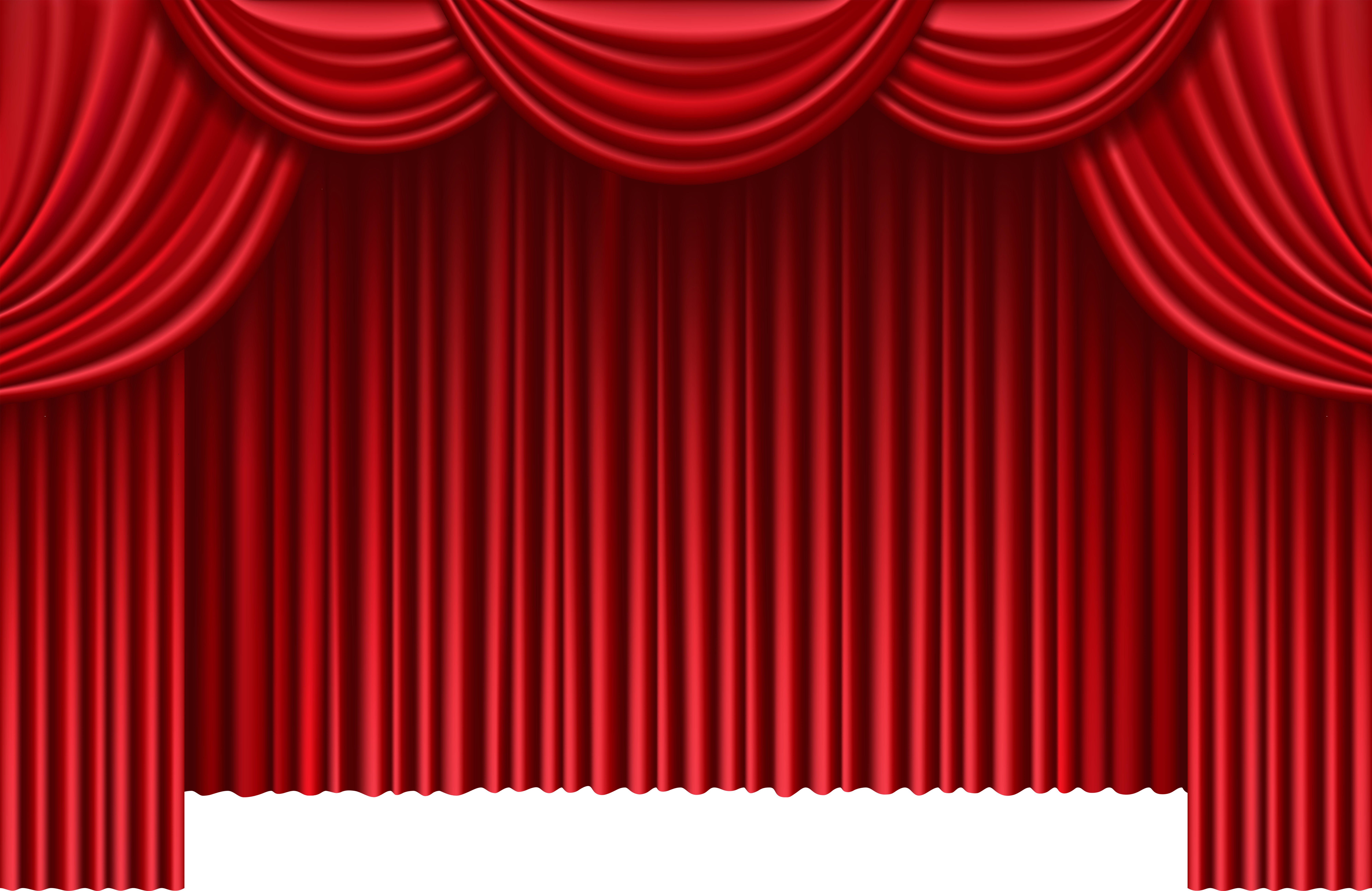 Red Theater Curtains PNG Clip Art.