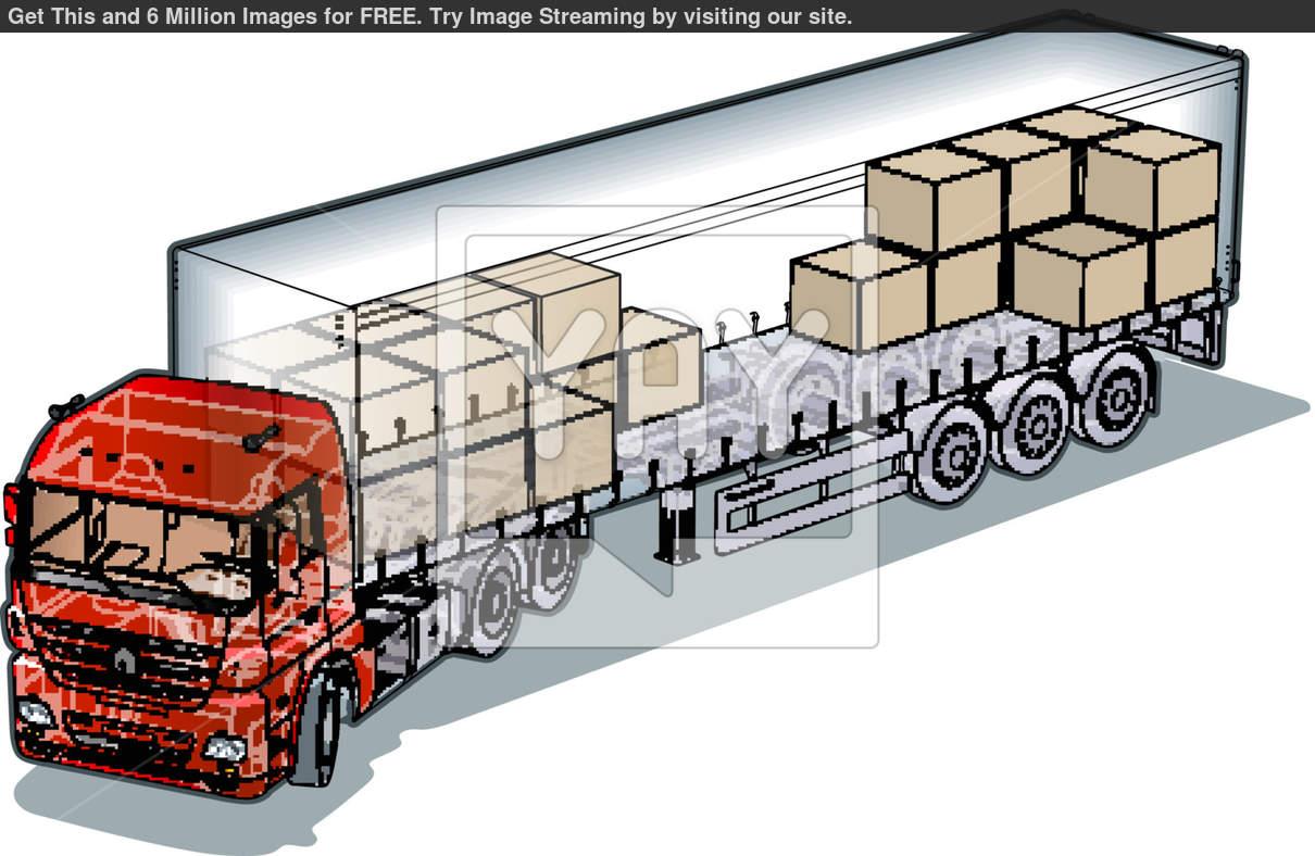 Mack Log Truck Clipart.