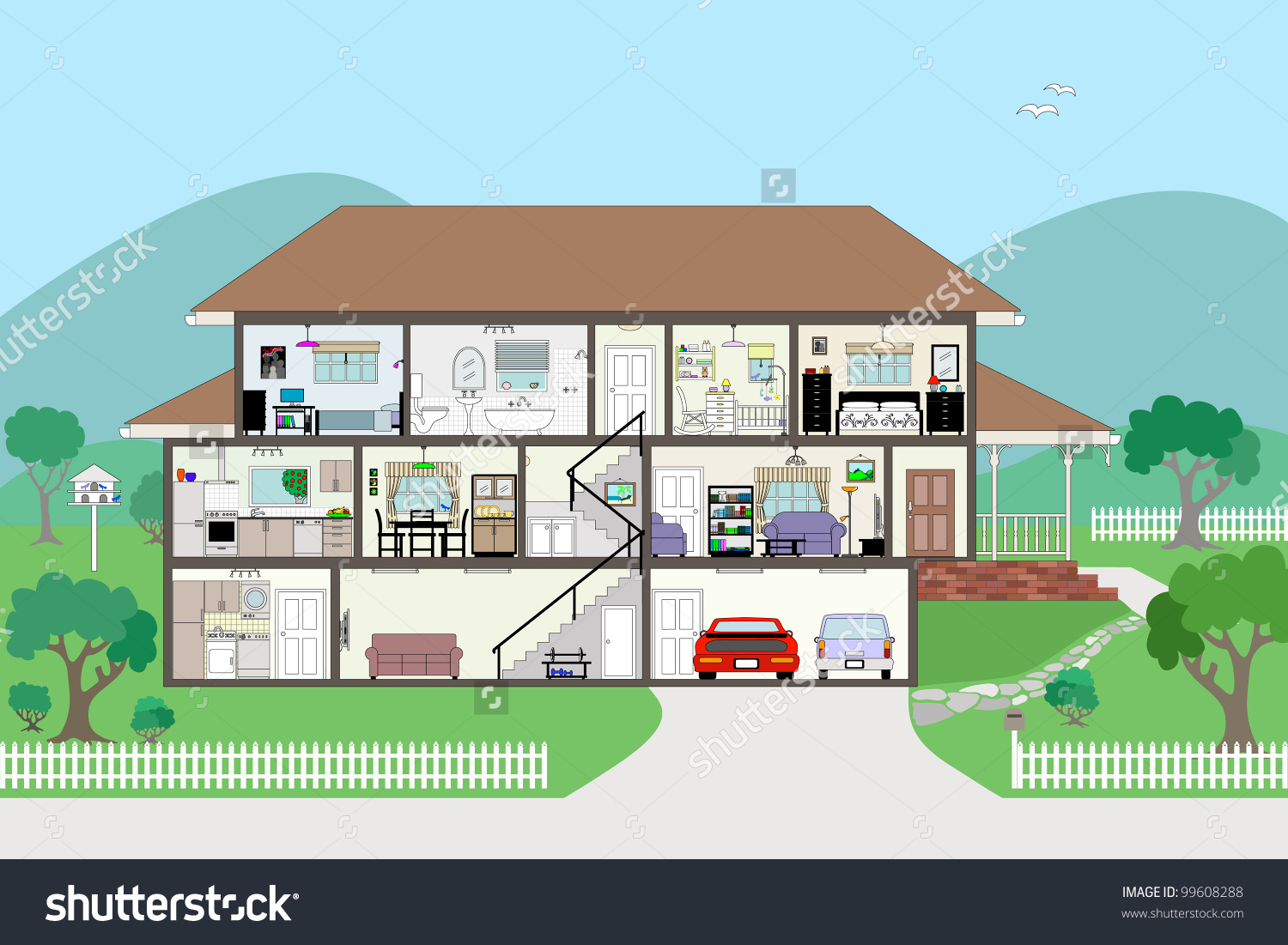 House interior clipart.