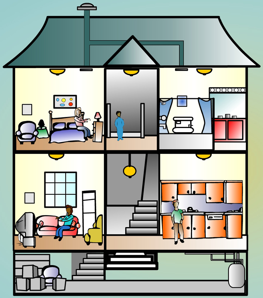 Your house clipart house cutaway.