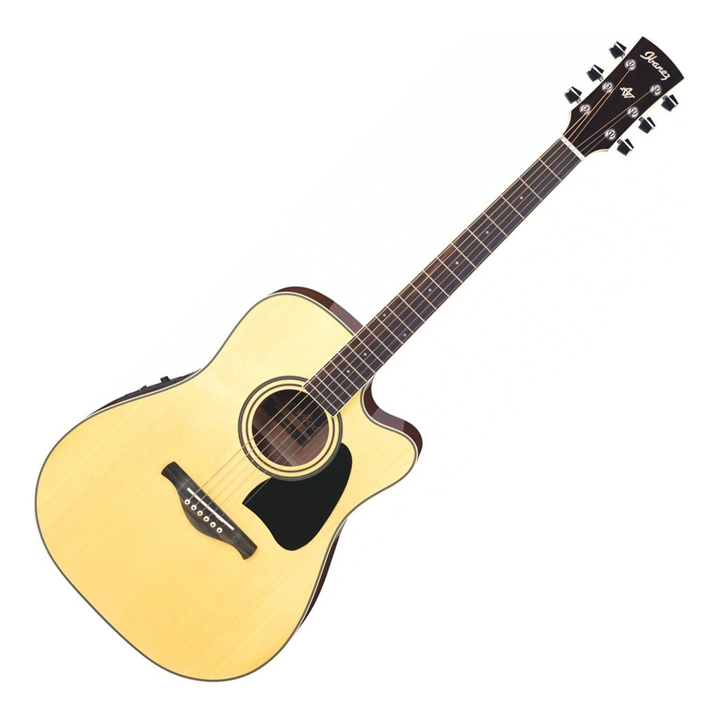 Ibanez Artwood AW70ECE Solid Top Cutaway Acoustic.