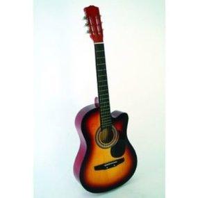 "38"" Sunburst Acoustic Cutaway Guitar With Free Gig Bag Clipart."