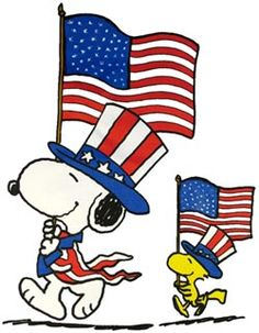Snoopy 4th Of July Clipart.