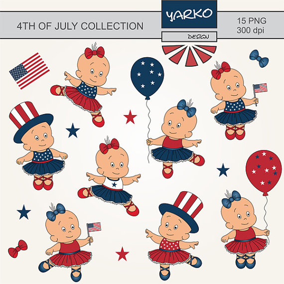 4th of July Clip Art Independence Day Clip Art Cute Baby.
