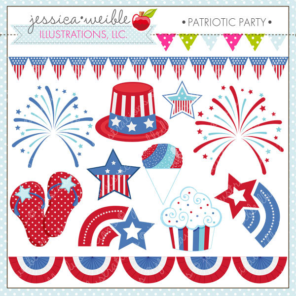 Cute 4th of july clipart.
