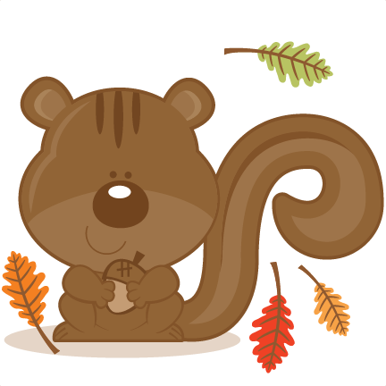 Squirrel With Acorn SVG scrapbook cut file cute clipart files for.