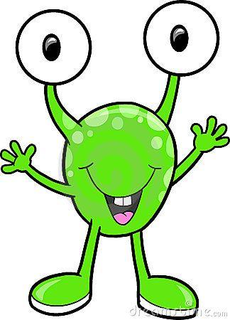 Cute alien clipart.