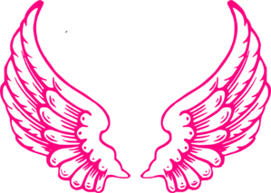 1805 Angel Wings free clipart.