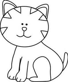 cute BLACK AND WHITE animal clip art.
