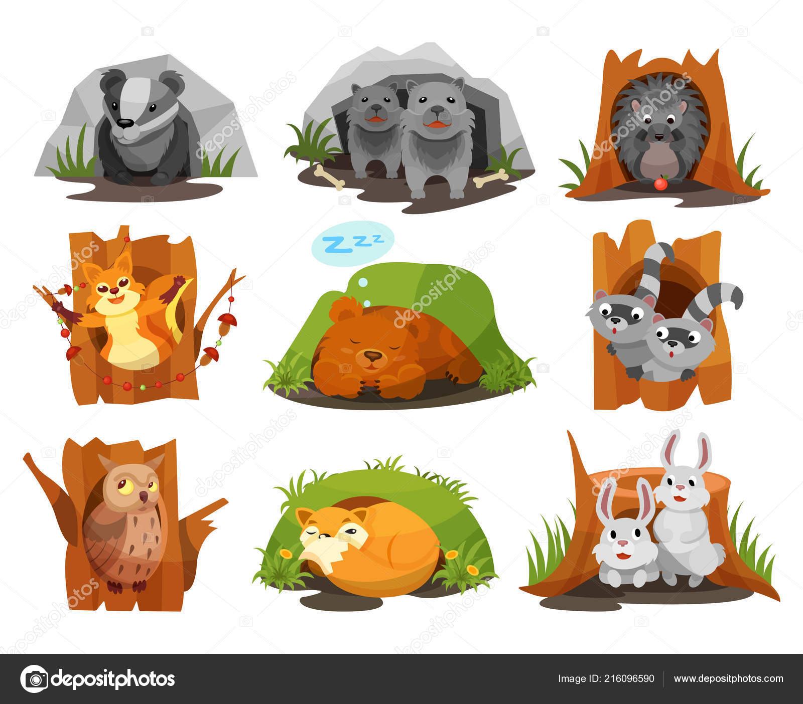 Clipart: animal den.