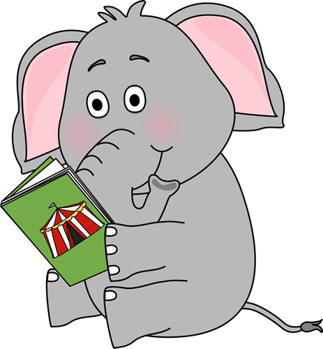 Cute Animal Reading Clipart.