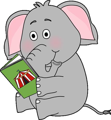 Cute cartoon animals reading