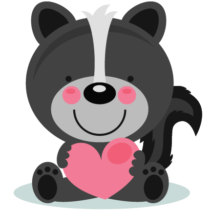 Cute valentine animal clipart png.