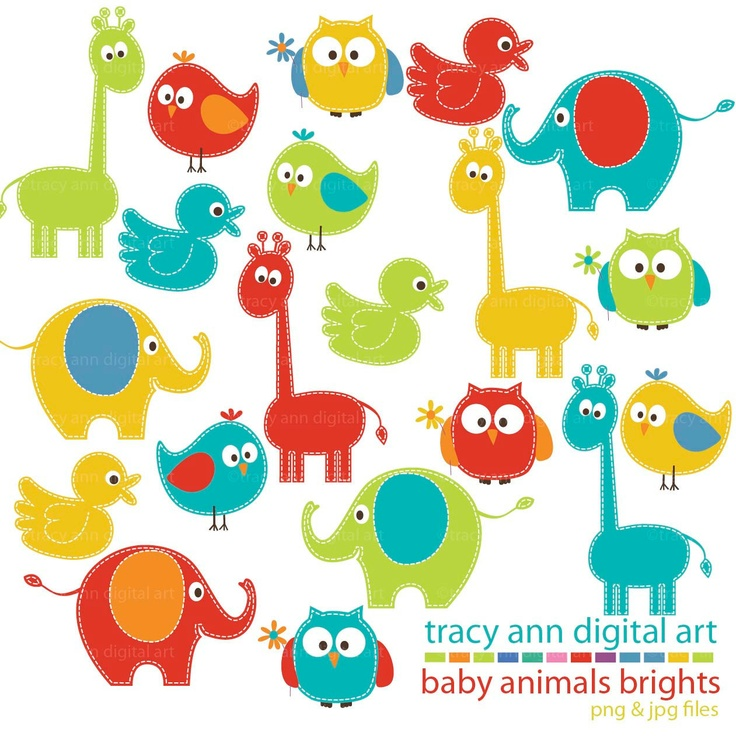 Cute Clipart Animal Wallpaper.