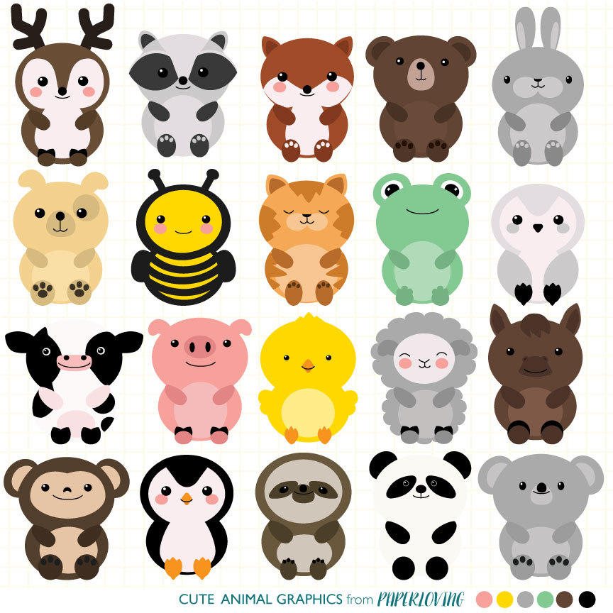 Cute Animal Clipart & Cute Animal Clip Art Images.
