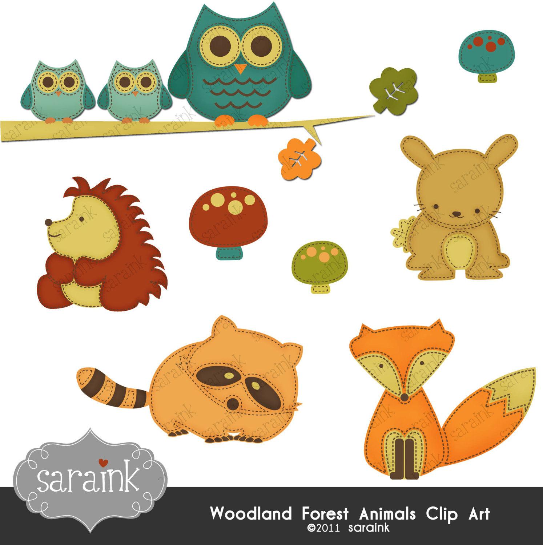 Cute clipart animals.