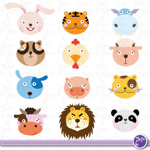 Cute wild animal clipart.