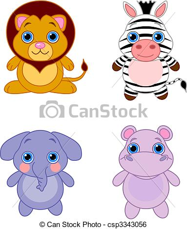 Clipart of cute animals.