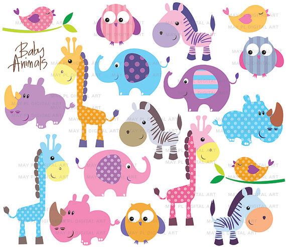 Cute Baby Animals Clipart.