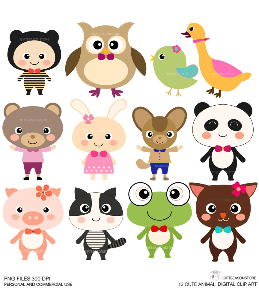 Cute Animal Clipart.
