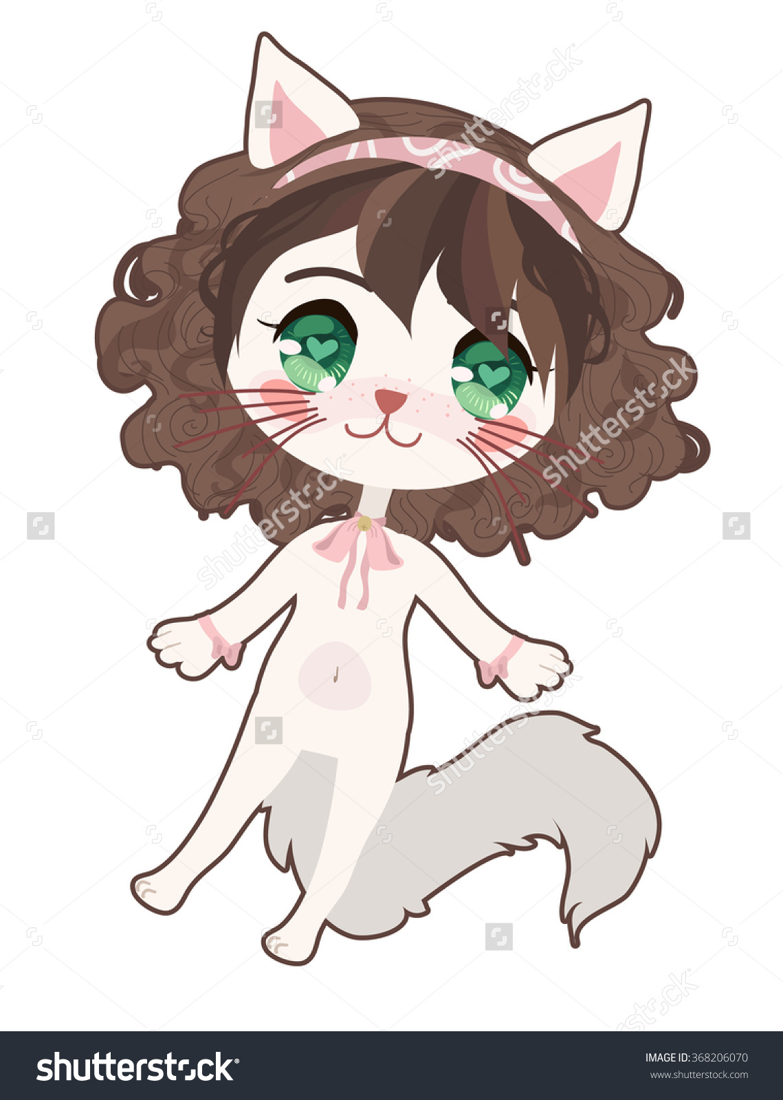 Cute Anime Cat Clipart Clipground