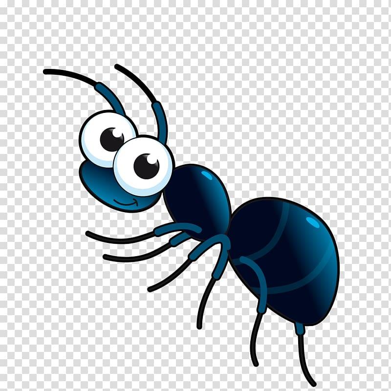 Black and blue ant illustration, Ant Cartoon , cute cartoon.