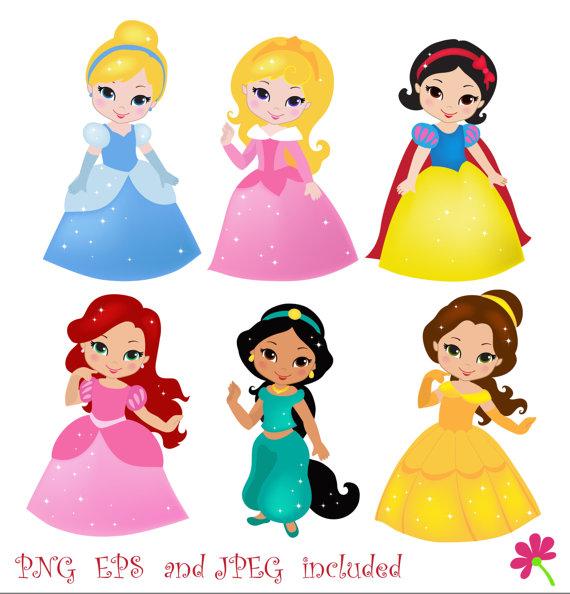 Toddler Disney Princess Aurora Digital Clipart.