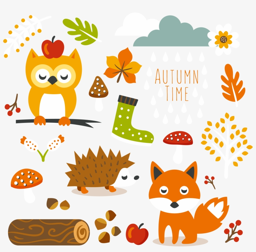 Free Cute Autumn Animal Clip Art And.