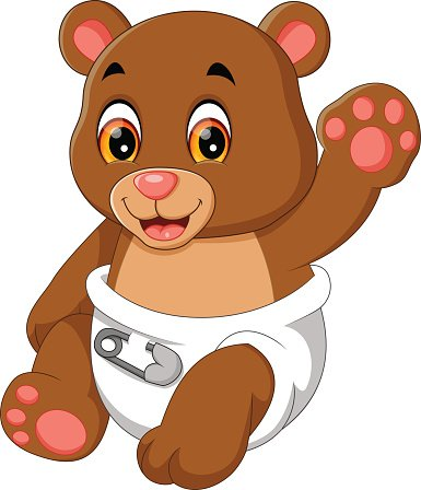 cute baby bear Clipart Image.