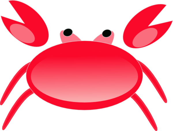 Cute Crab Clipart.