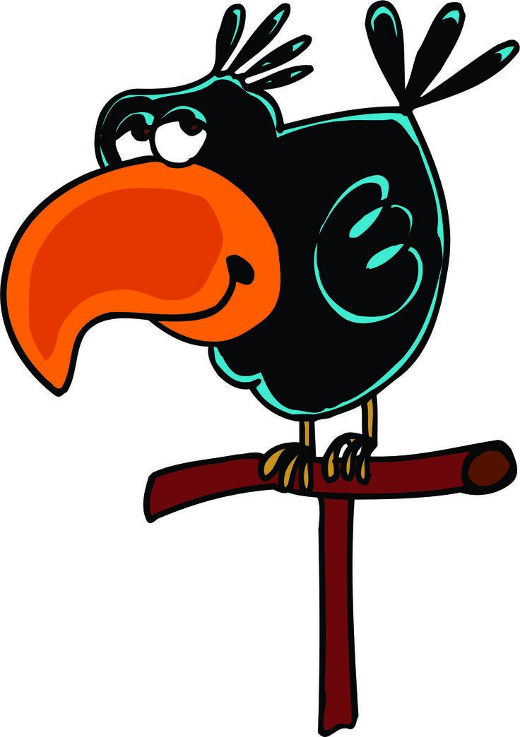Cartoon Crow Clipart.