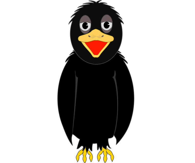 Flying Crow Cute Clipart.