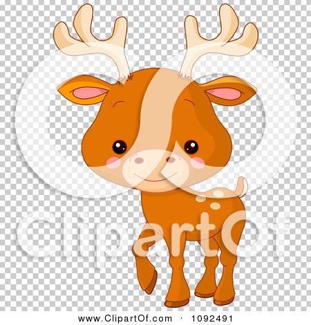 Clipart Cute Baby Zoo Deer.