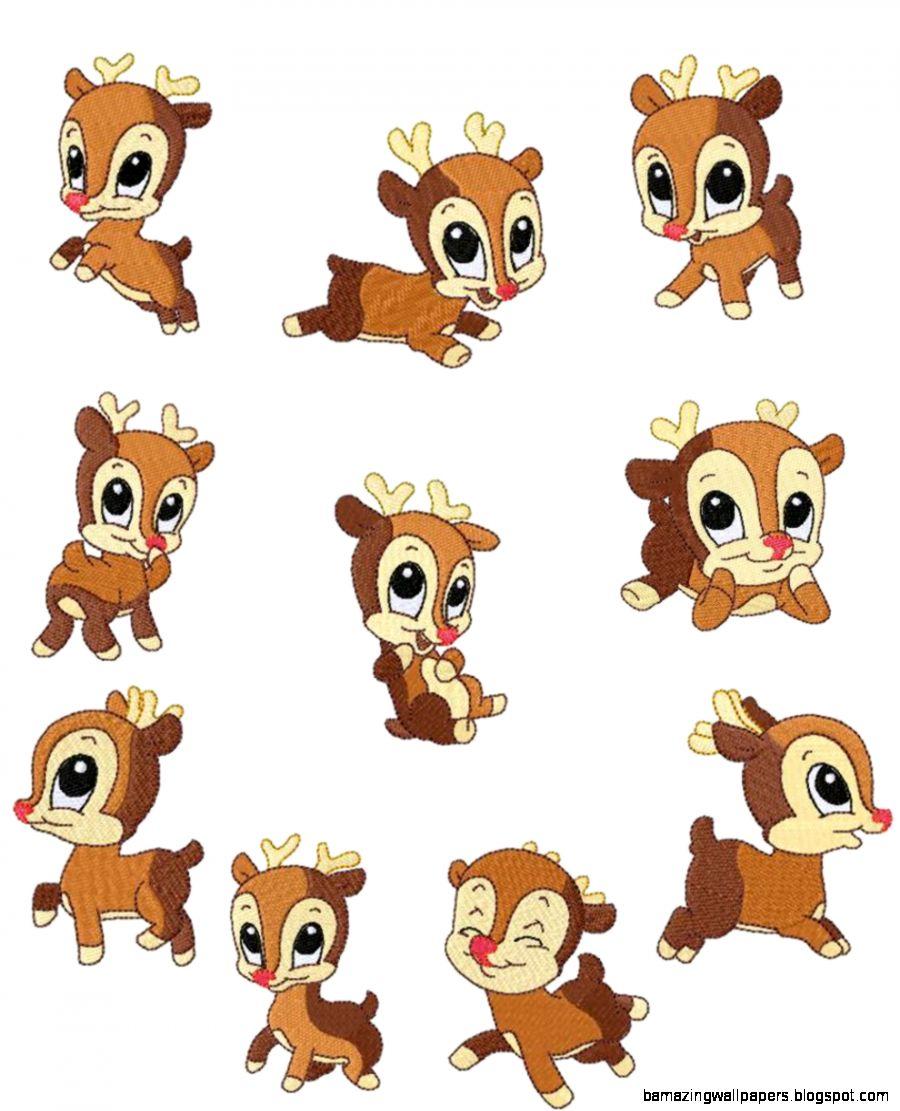 Baby Deer Cute Clipart.