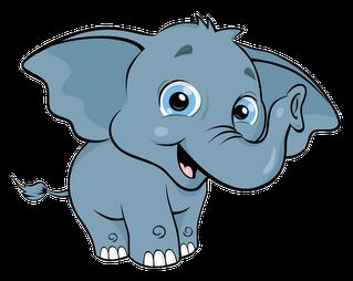 Cute Baby Elephant Clip Art Clipart.