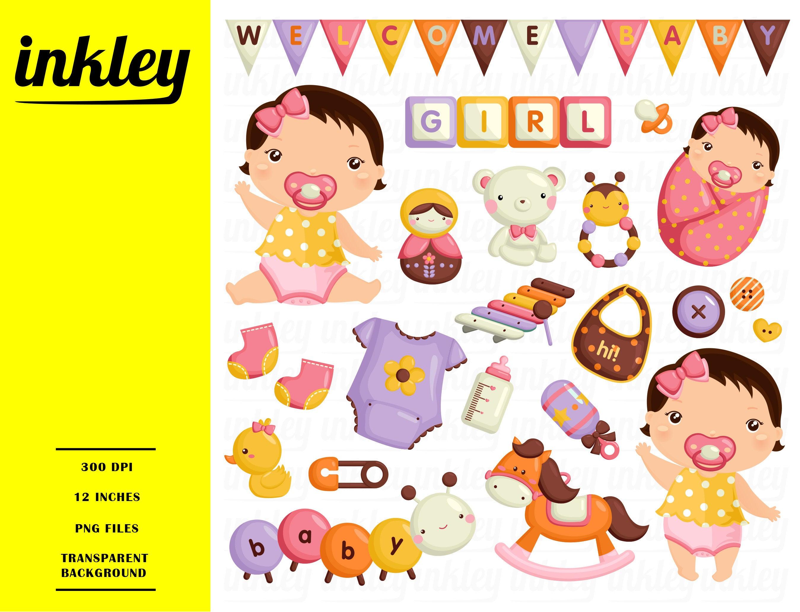 Baby Girl Clipart, Baby Girl Clip Art, Baby Girl Png, Toys Clipart, Cute  Babies Clipart, Cute Kids Clipart, Horse Clipart, Bear Clipart.