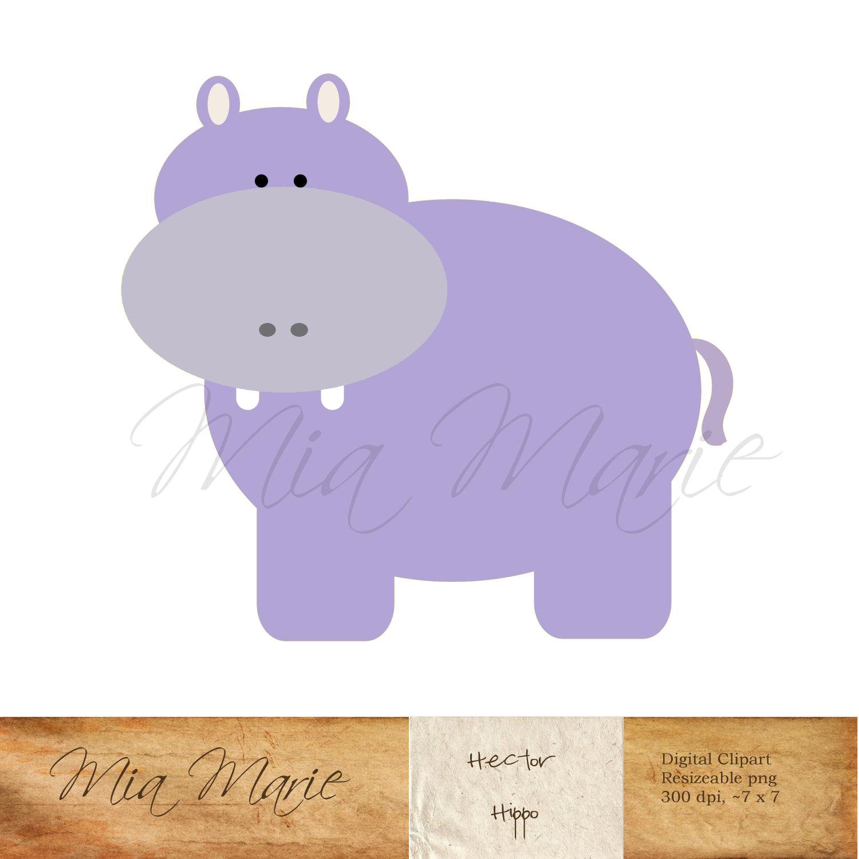 Hippo clipart.