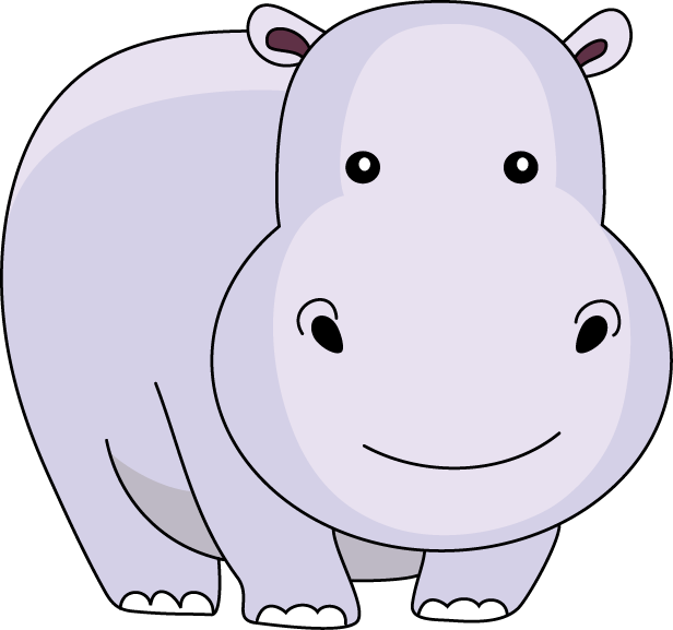 cute baby hippo clipart clipground