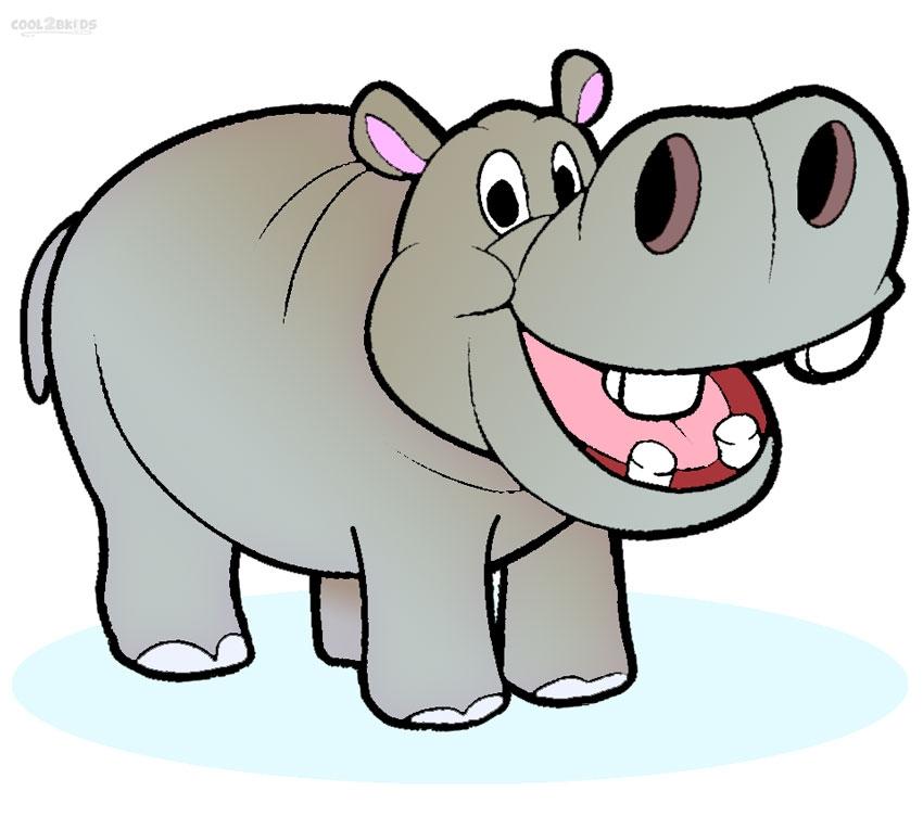Cute Hippo Cliparts.