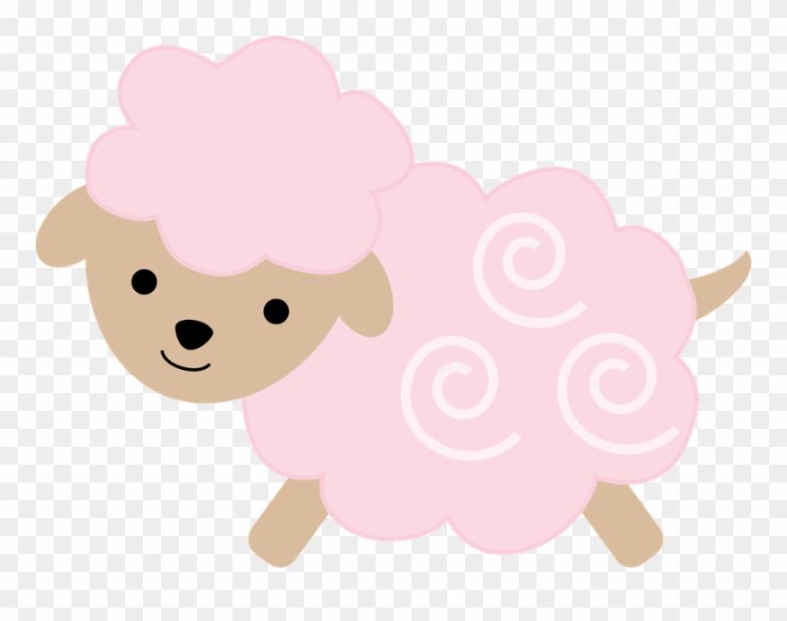 Pink Sheep, Baby Sheep, Cute Sheep, Cute Coloring Pages.