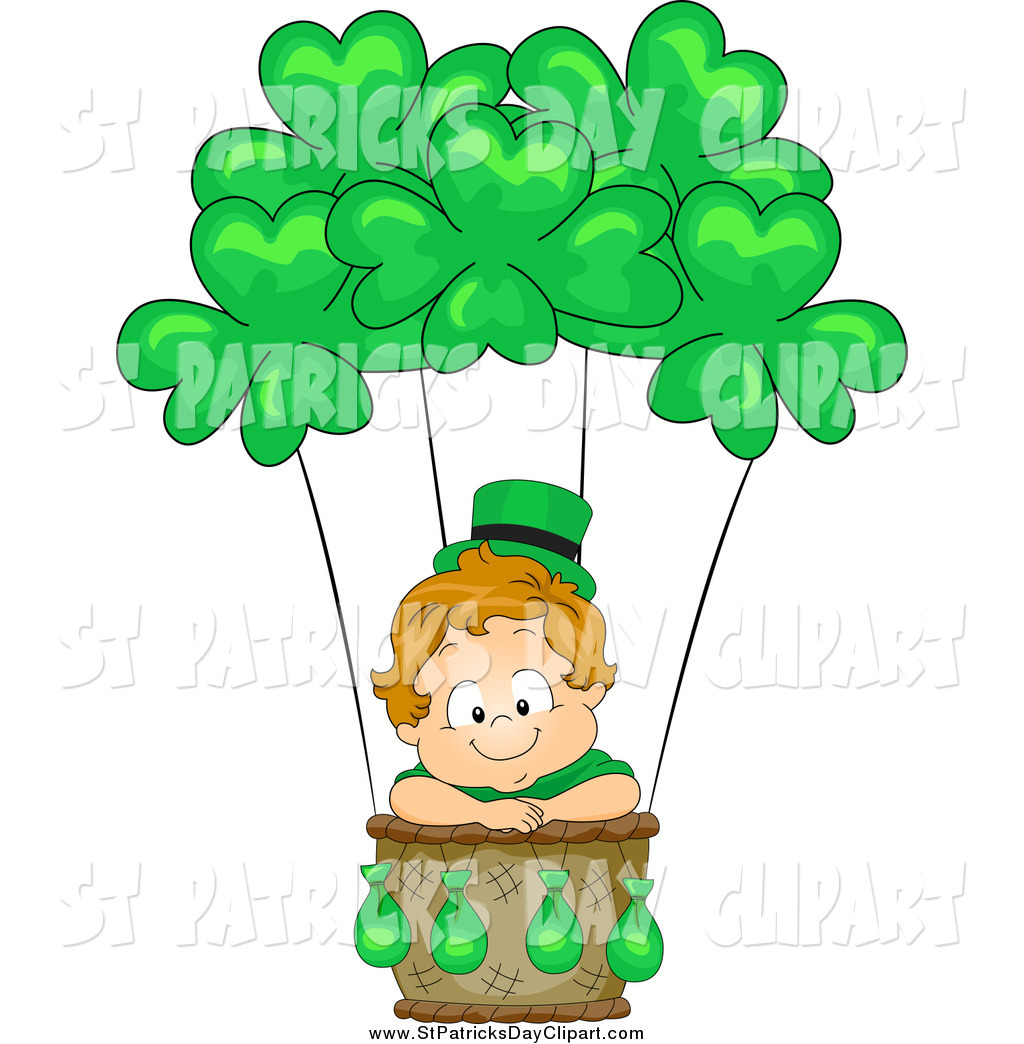 Royalty Free Stock St. Patrick's Day Designs of Babies.