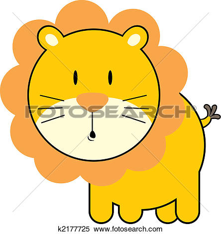 Clipart of cute baby lion k2177725.