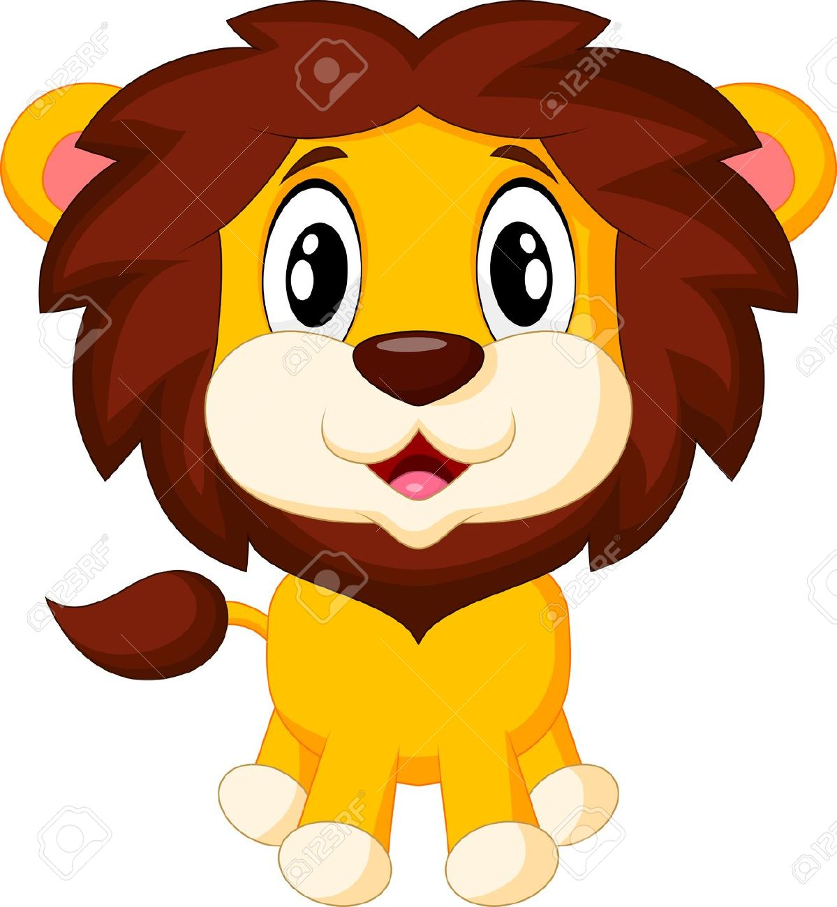 Cute Baby Lion Clipart