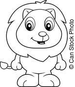Animal baby cartoon cub cute happy illustration lion little.