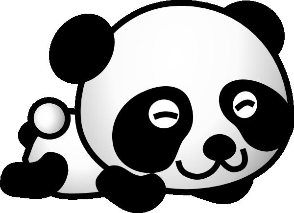 Cute Baby Panda Saying Hi Clipart.