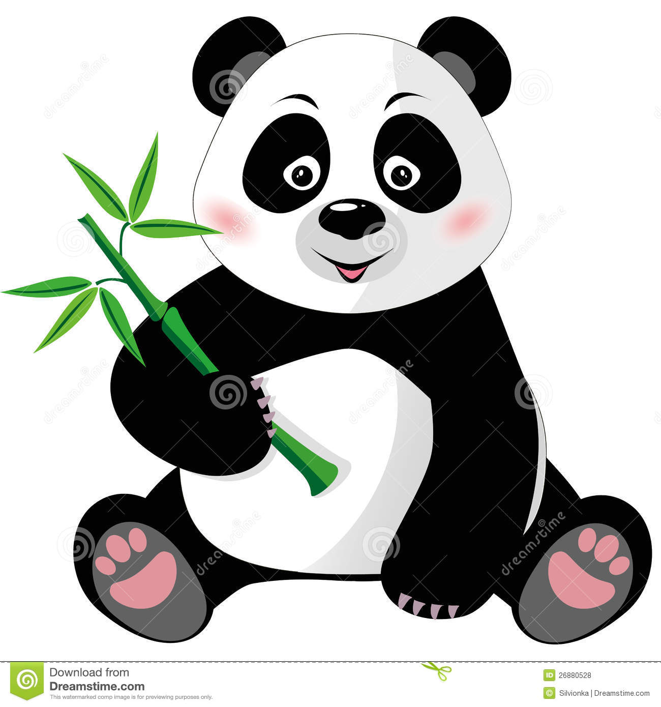 Baby Panda Bear Clipart.
