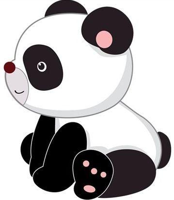 Cute Baby Panda Saying Hi Clipart Clipground