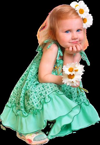 Cute Baby Girl (PNG).