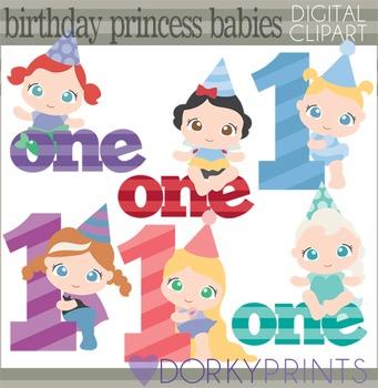 Birthday Baby Princess Clip Art.