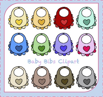 Baby Shower Clipart / Baby Bib Clipart / Baby Clothes.